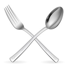 Crossed fork and spoon vector