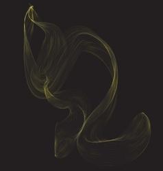 Decorative wind smoke design cover vector