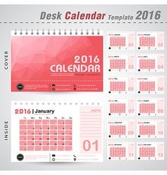 Desk calendar 2016 design template vector