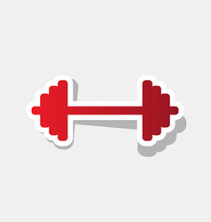 dumbbell weights sign new year reddish vector image vector image