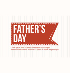 Father day collection card style vector