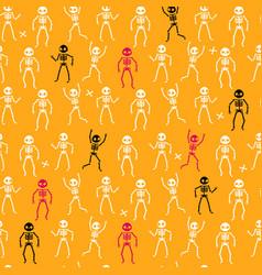 funny skeletons pattern vector image