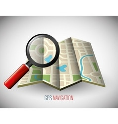 GPS navigation technology vector image