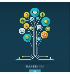 Growth tree concept for business communication vector