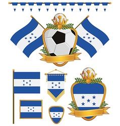 honduras flags vector image vector image