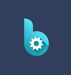 Letter B technology logo icon design template vector image vector image