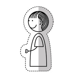Little boy drawing isolated icon vector