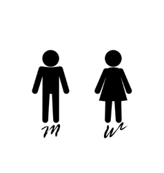 Man and woman sign logo on pink background vector