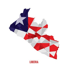 Map of Liberia vector image