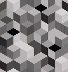 Optical cubes seamless pattern vector