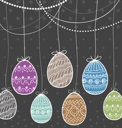 Ornamental Easter eggs vector image vector image