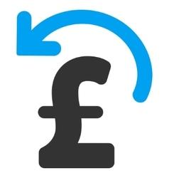 Undo pound payment flat icon symbol vector