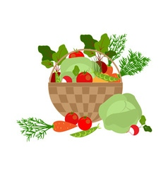 Vegetables basket vector