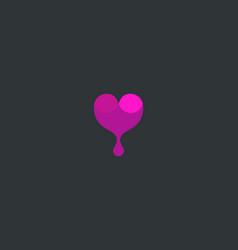 wine logotype abstract drop heart logo vector image vector image