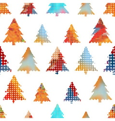 Set of christmas colorful tree decoration small vector