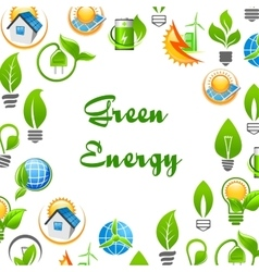 Green Energy environment protection poster vector image