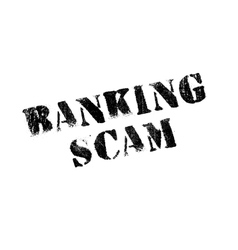 Banking scam rubber stamp vector