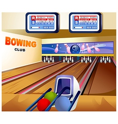 Bowling alley background vector