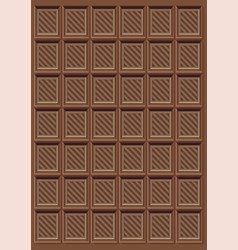 Brown delicious chocolate bar pattern vector