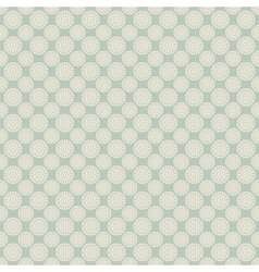 Floral seamless pattern with dots tiling vector