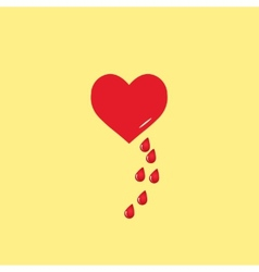 Heart and blood drop vector