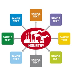 Industry diagram vector