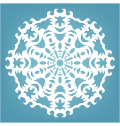 Christmas decorative lace ornament vector