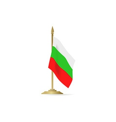 Bulgaria flag stant on white space vector