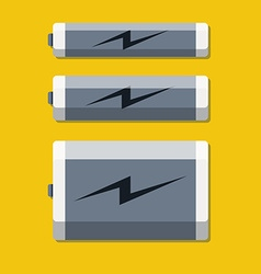 Set of batteries in flat style vector