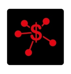 Money emission icon vector