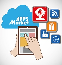 Apps market vector