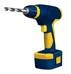 Realistic of cordless drill vector