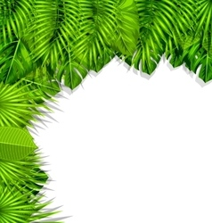 Summer nature background with green vector
