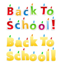 Back To School Paper Words vector image