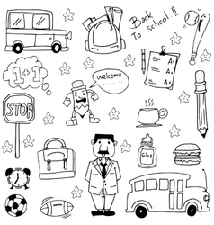 Doodle education element hand draw vector