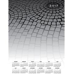 A 2017 cobblestone calendar vector