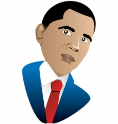 Barrack obama vector