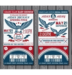 Baseball tickets vector