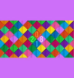 Colorful pattern new year 2018 on background vector