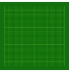 Cutting Green Mat with Greed vector image