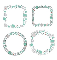 Decorative mechanical frames collection vector image