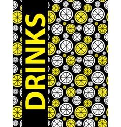 Drinks Menu Background vector image vector image