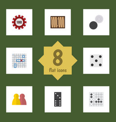 Flat icon entertainment set of poker dice vector