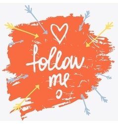 Follow me social net on vector