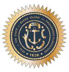 grand seal of rhode island vector image vector image