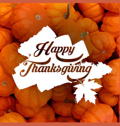 happy thanksgiving typography poster vector image