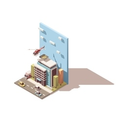 isometric hospital icon vector image vector image