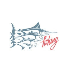Marlin tuna caranx vector