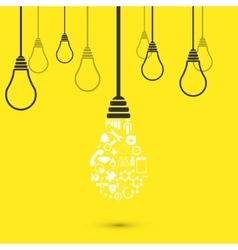modern light bulb background vector image