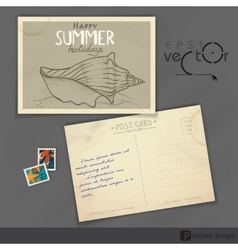 Old Postcard Design Template vector image